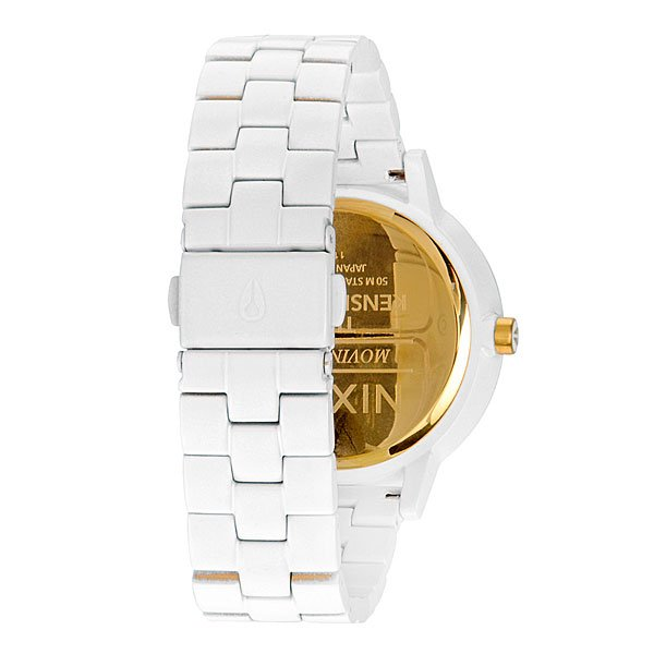 Часы женские Nixon Kensington All White/Gold