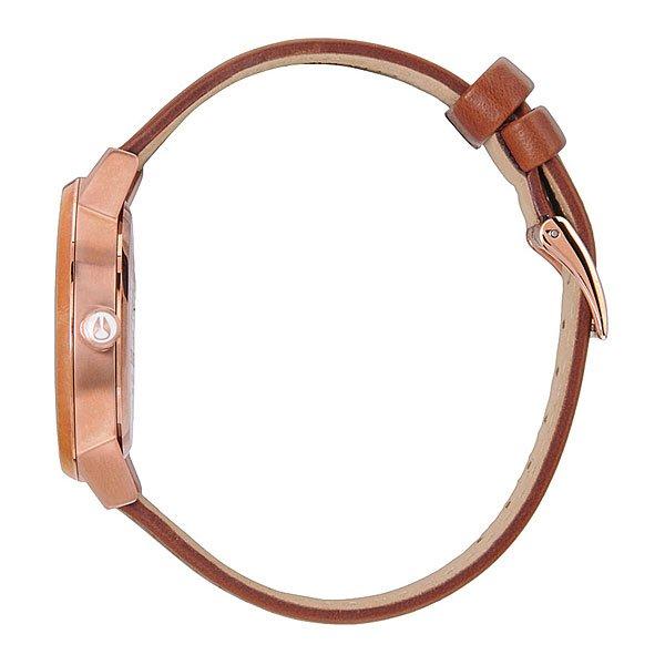 Часы женские Nixon Kensington Leather Rose Gold/White