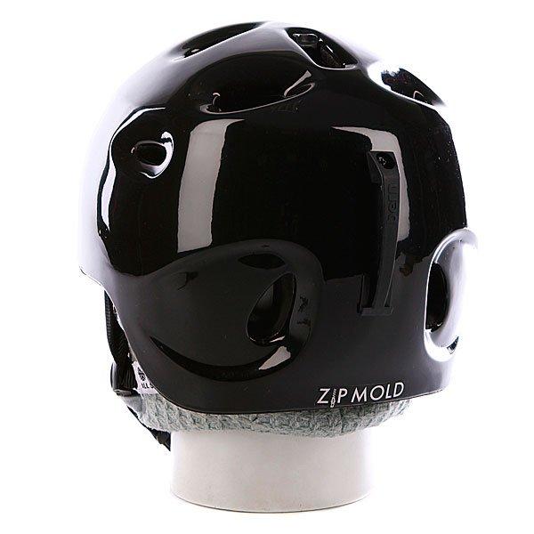 Шлем Bern Cougar Ii Gloss Zipmold Black W/ Black Knit