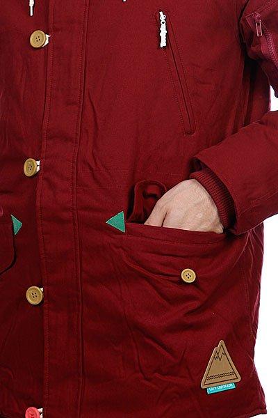 Куртка парка True Spin Alaska Jacket Burgundy/Native