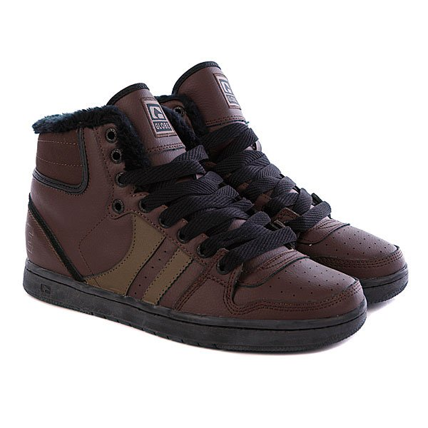 Кеды утепленные Globe Destroyer Chocolate/Black Fur