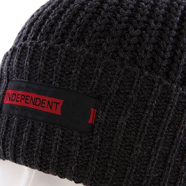 Шапка Independent Redline Beanie Heather Black