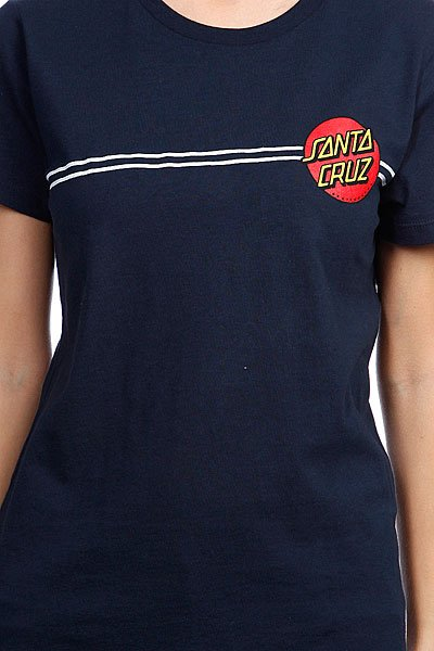 Футболка женская Santa Cruz Classic Dot Fine Jersey Midnight/Navy