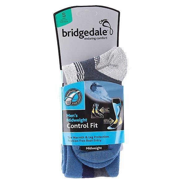 Носки сноубордические Bridgedale Midweight Control Fit Gunmetal/Storm Blue