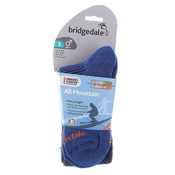 Носки сноубордические Bridgedale All Mountain Gunmetal/Midnight