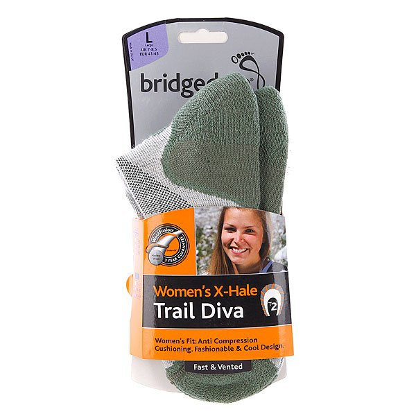 Носки средние женские Bridgedale X-Hale Trail Diva Stone/Sage