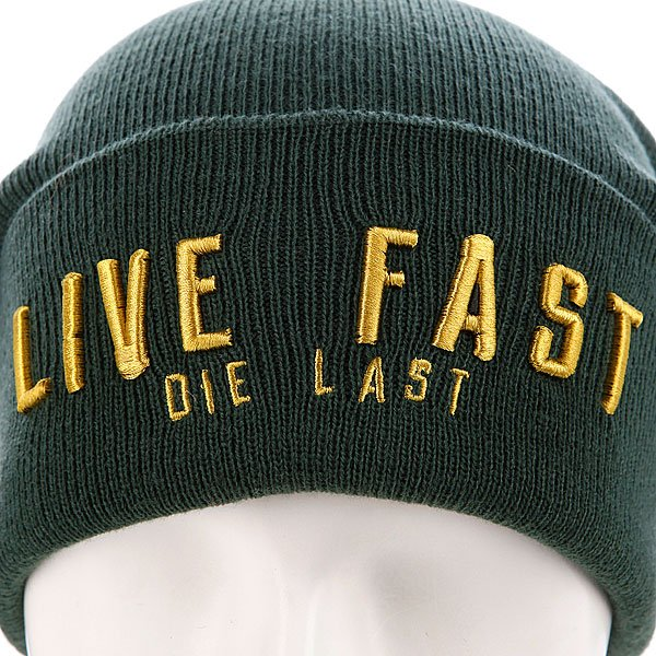 Шапка True Spin Live Fast Green