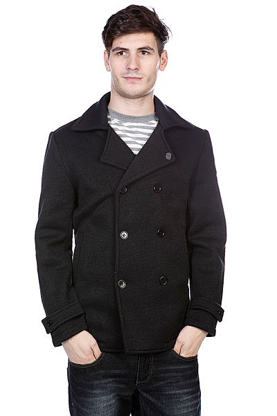 Пальто Enjoi Peacock Pea Coat Black Heather
