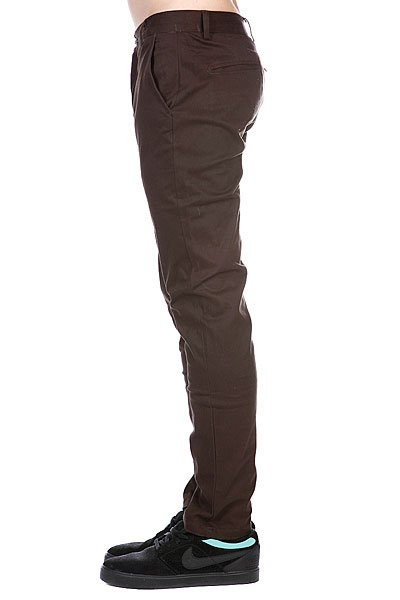 Штаны узкие Enjoi Boo Khaki Slim Straight Dark Brown
