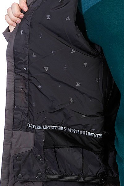 Куртка Zimtstern Snow Jacket Vega Men Dark Grey/Yellow