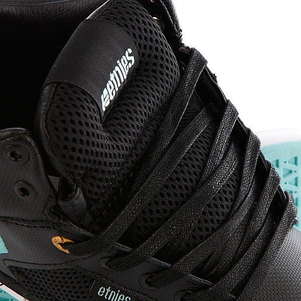 Кеды высокие Etnies High Rise Black/White/Turquoise
