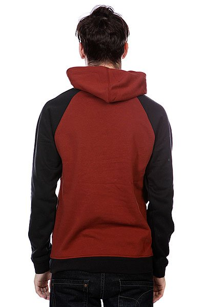 Толстовка Etnies Classic P/O Fleece Red/Brown