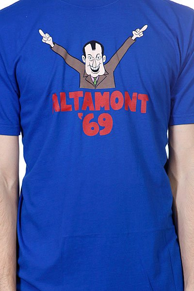 Футболка Altamont Dicing S/S Tee Blue