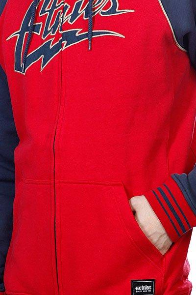 Толстовка Etnies Thunderous Zip Fleece Red/Navy