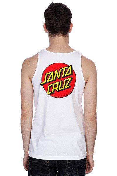 Майка Santa Cruz Classic Dot Tank White
