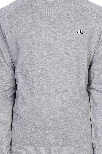 Толстовка свитшот Enjoi Panda Patch Sweater Heather|grey