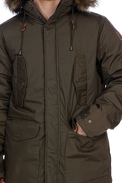 Куртка парка Element Oakhill Olive Gray
