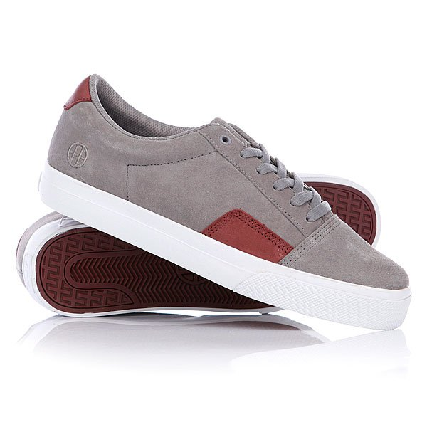Кеды низкие Huf Southern Gray/Wine