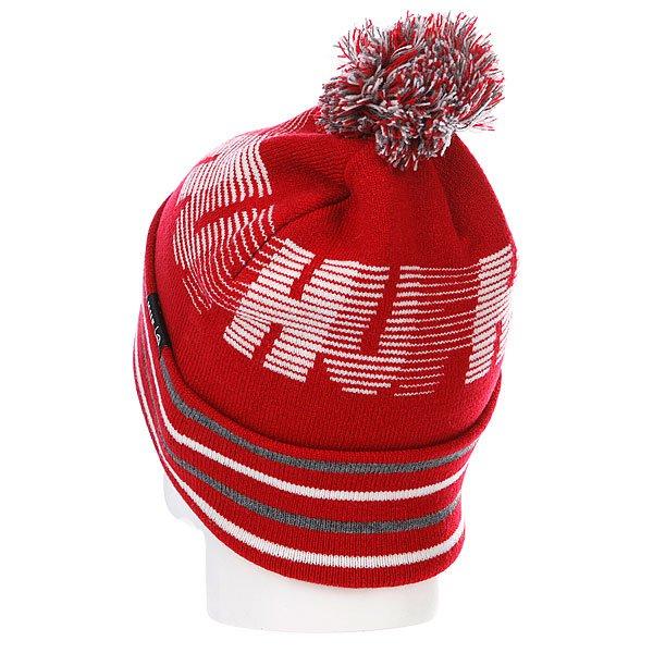 Шапка с помпоном Huf 10K Beanie Red