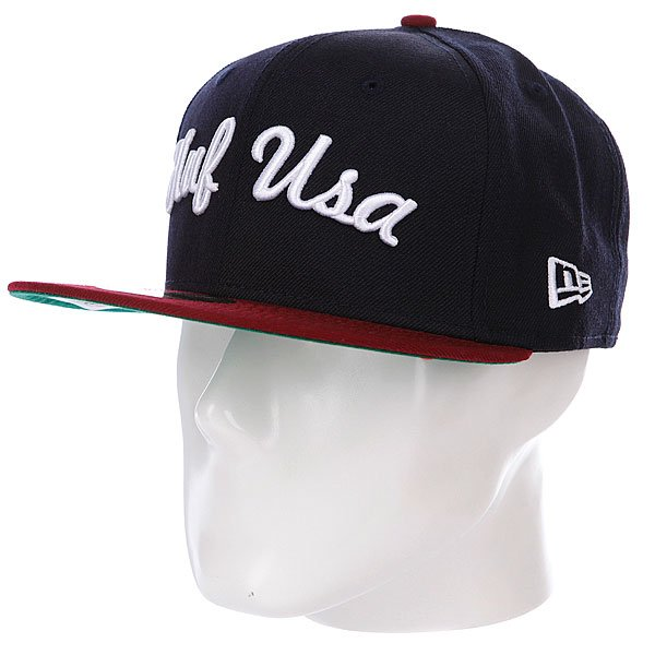 Бейсболка New Era Huf Usa NewEra Navy/Wine