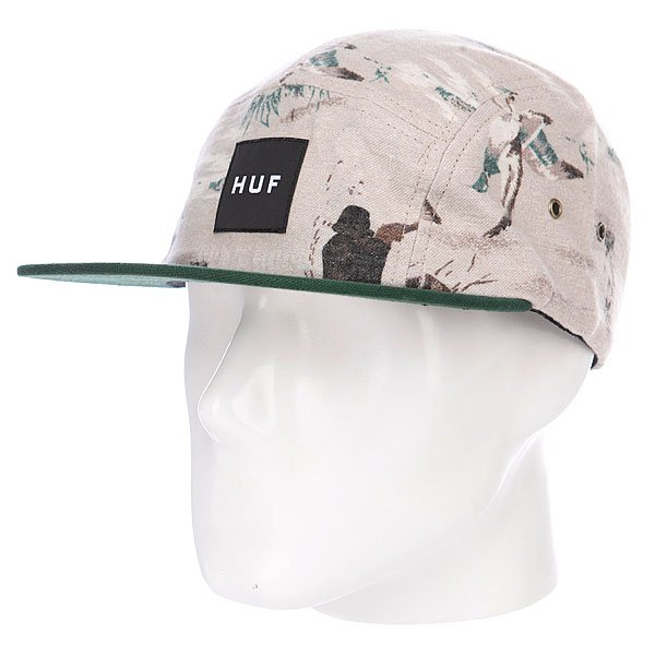 Бейсболка Huf Duck Duck Volley Tan/Forest Green
