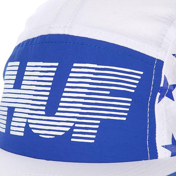 Бейсболка пятипанелька Huf Hell Track Volley White/Blue