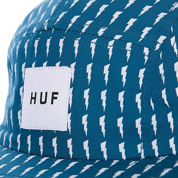 Бейсболка пятипанелька Huf Thunder Bolt Box Volley Aqua/White