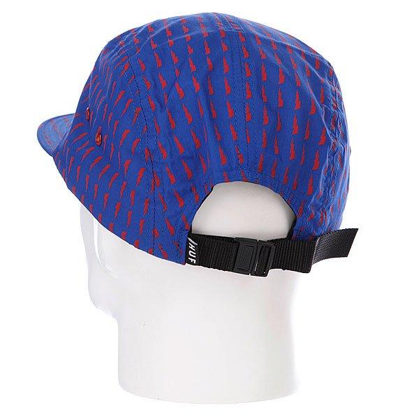 Бейсболка пятипанелька Huf Thunder Bolt Box Volley Blue/Red