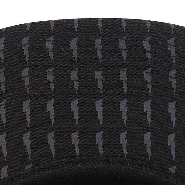 Бейсболка пятипанелька Huf Thunder Bolt Box Volley Black/Grey