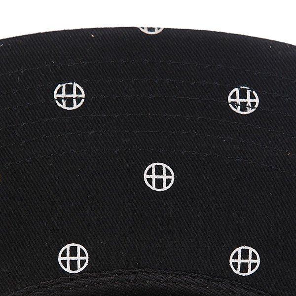 Бейсболка пятипанелька Huf Circle H Volley Black/White