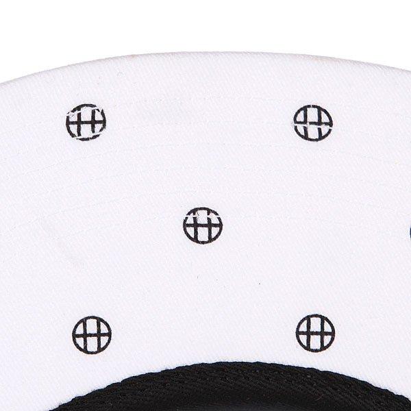 Бейсболка пятипанелька Huf Circle H Volley White/Black