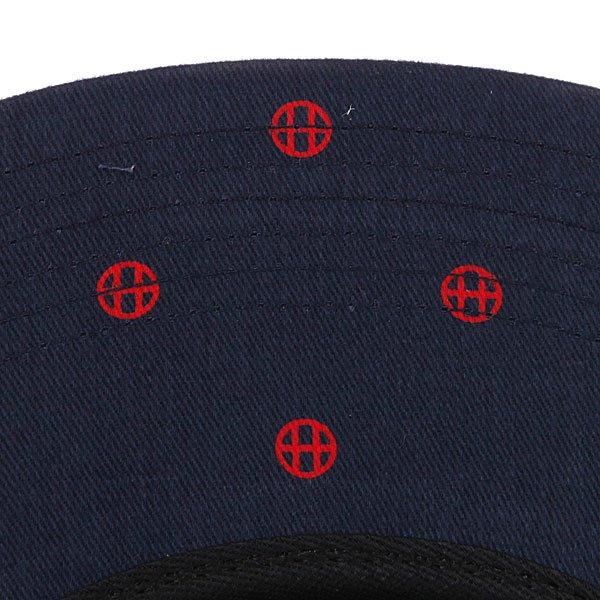 Бейсболка пятипанелька Huf Circle H Volley Navy/Red