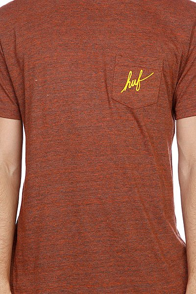 Футболка Huf Small Script Pocket Tee Burnt Orange