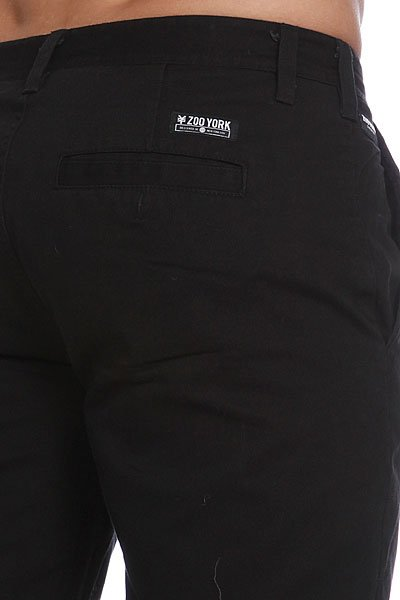 Штаны прямые Zoo York Baxter Chino Black