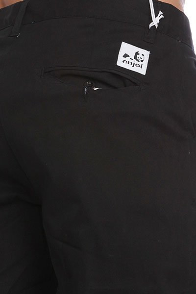 Штаны прямые Enjoi Boo Khaki Slim Chino True Black