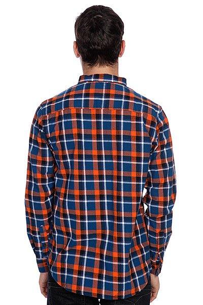 Рубашка в клетку Globe Corsair Shirt Blue/Orange