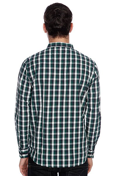 Рубашка в клетку Globe Attfield Shirt Fern Green