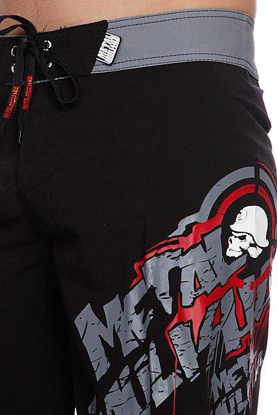 Шорты Metal Mulisha Boardshort Rousted Black