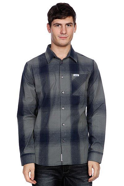 Рубашка в клетку Etnies Chi Town Grey
