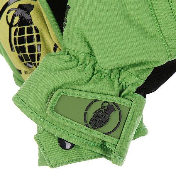 Перчатки сноубордические детские Grenade Fragment Green