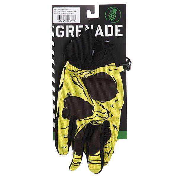 Перчатки сноубордические Grenade Skull An Slime