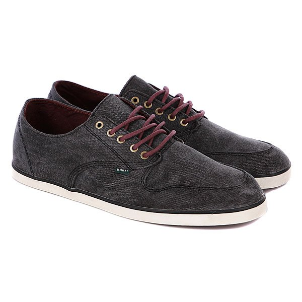 Кеды низкие Element Bowery Black Washed