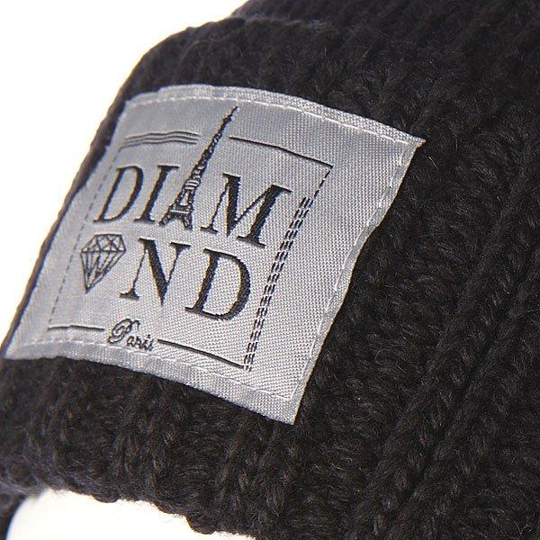 Шапка Diamond Paris City Cuff Fold Beanie Black