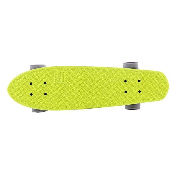 Скейт мини круизер Globe Bantam Retro Rippers Lime/Raw/Black 24 (61 см)