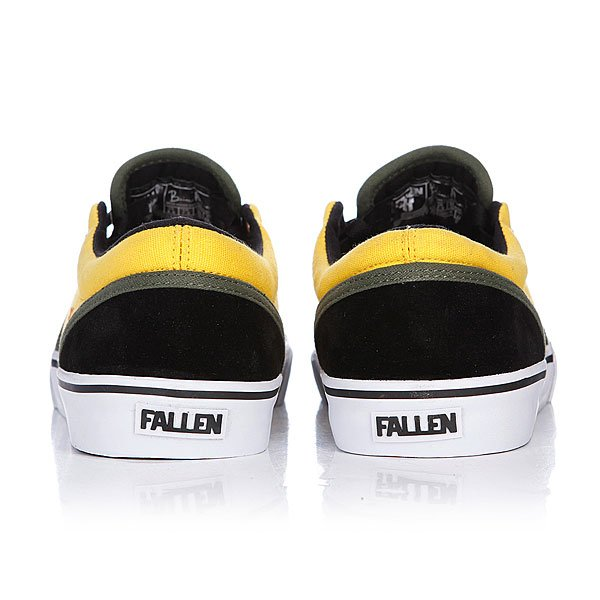 Кеды низкие Fallen The Easy Black/Galaxy Yellow