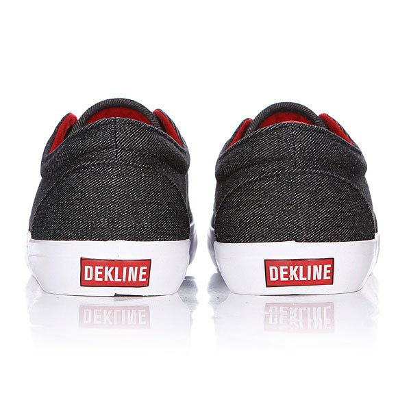 Кеды низкие Dekline Mason Black/Chili Pepper