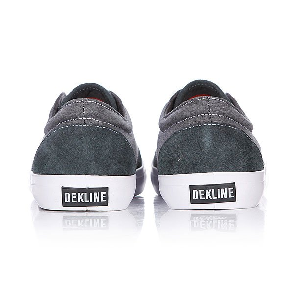 Кеды низкие Dekline Mason Pewter/White