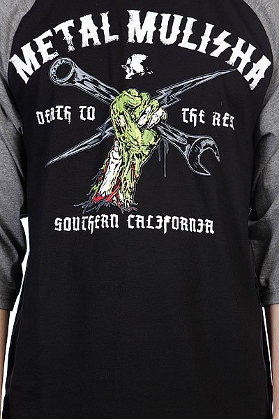 Лонгслив Metal Mulisha Dead Fist Raglan Black