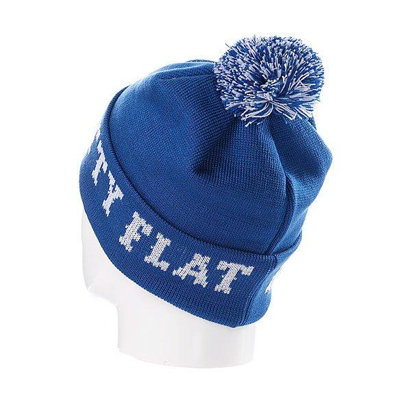 Шапка с помпоном Flat Fitty Ftfy Blue