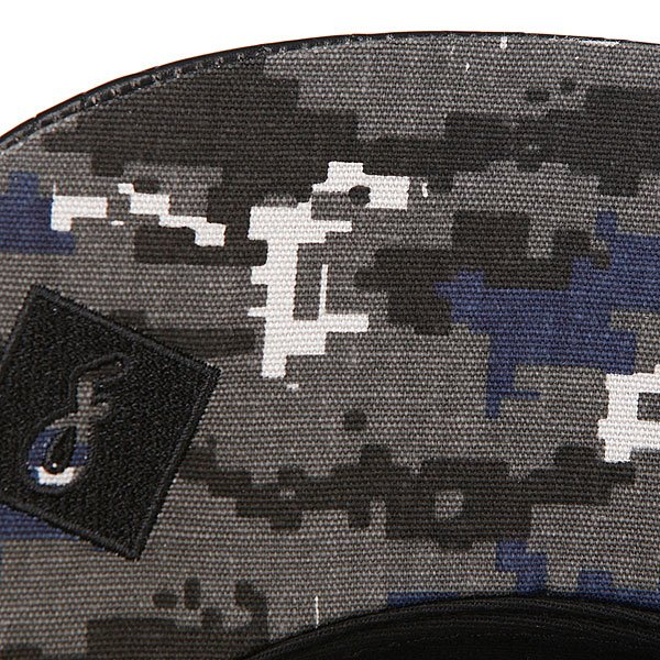 Бейсболка пятипанелька Flat Fitty Camo Snake Black/Grey Digi Camo